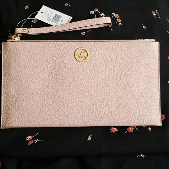 4231290b663 MICHAEL Michael Kors Bags | Michael Kors Fulton Blossom Pink Zip ...